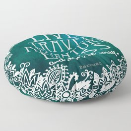 Live Travel Adventure Bless (and don't be sorry) Floor Pillow