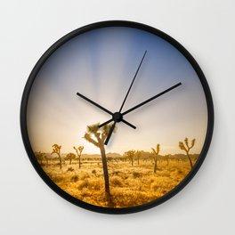 Joshua Tree National Park - Setting Sun Wall Clock