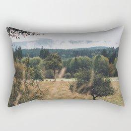 Elk in the Mist Rectangular Pillow