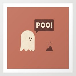 Poo Art Print