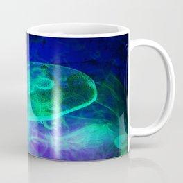 Green Glowing Luminescence of the UFO Jellyfish Coffee Mug