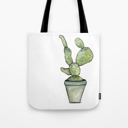 One green Cactus Tote Bag