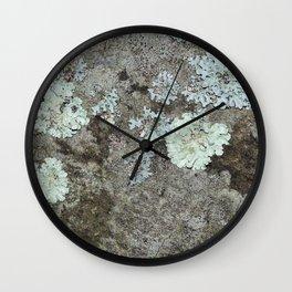 Lichen on granite Wall Clock