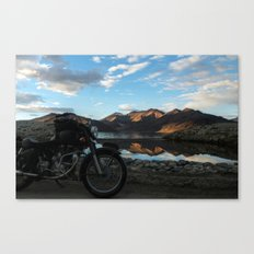 Lonely rider in the evening light...  Canvas Print