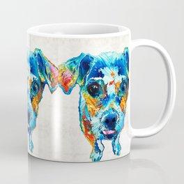 Colorful Little Dog Pop Art by Sharon Cummings Coffee Mug