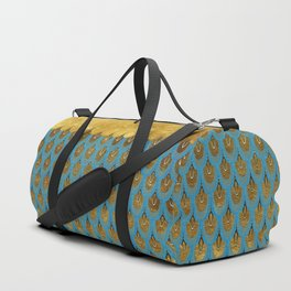 Blue and Gold Mermaid Scales Dreams Duffle Bag