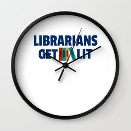 Librarians Get Lit with Classic Books Wall Clock