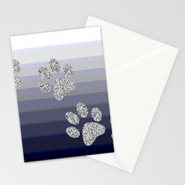 Paw Prints Stationery Cards