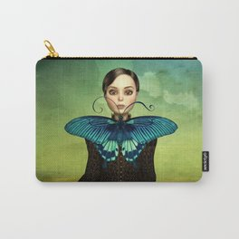 Butterfly Portrait in the meadow Carry-All Pouch