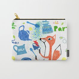 Fox tea party Carry-All Pouch