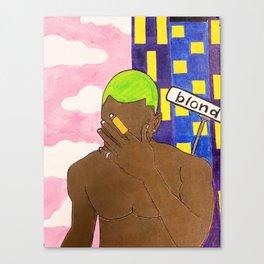 Frank - Blonde - Acrylic Painting Canvas Print