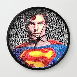 Superman Man of Tomorrow Wall Clock