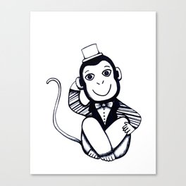 Lil Monkey Canvas Print