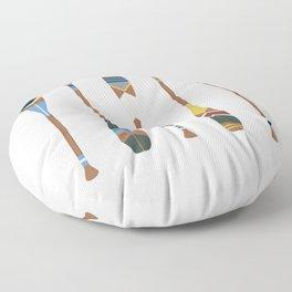 Painted Oars Floor Pillow