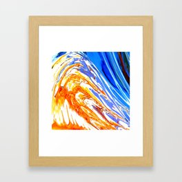 Riding the Wave of Orange Emotion; Fluid Abstract 53 Framed Art Print