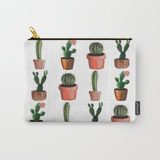 Various Cacti Carry-All Pouch