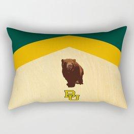 Baylor University - BU logo with bear Rectangular Pillow