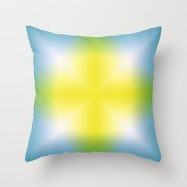 Color Gradient Cross 01 Throw Pillow