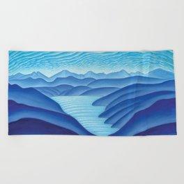 West Arm of Kootenay Lake Beach Towel