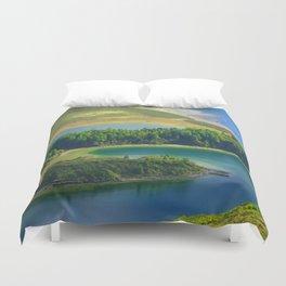 Colorful lake Duvet Cover