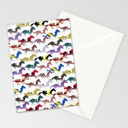 Off to the Horse Races Jockey Silk Pattern Stationery Cards