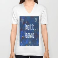 neverland V-neck T-shirts featuring Take Me To Neverland | Galaxy by Sarah Hinds