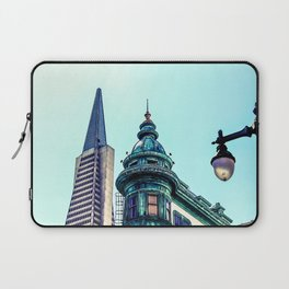 pyramid building and vintage style building at San Francisco, USA Laptop Sleeve