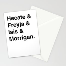 Goddesses of Magick   Hecate Freyja Isis Morrigan Stationery Cards