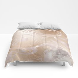 Rose Gold & Golden Marble Comforters