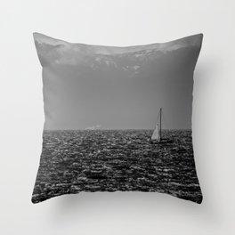 Stormy Seas - Rough water near Victoria, BC Throw Pillow