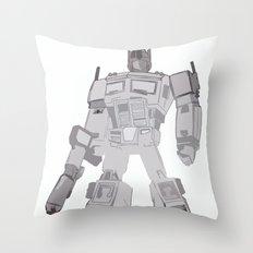 Optimus Black and White Throw Pillow