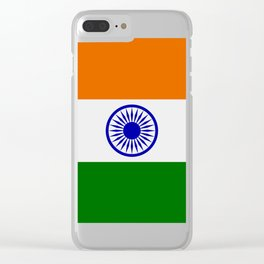 india flag Clear iPhone Case