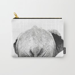 Black and white elephant animal jungle Carry-All Pouch