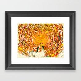 Swirl Selfie Framed Art Print
