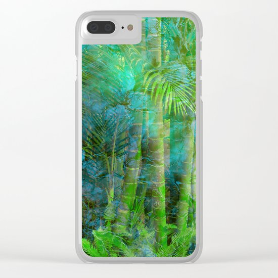 Tropical Mood Clear iPhone Case