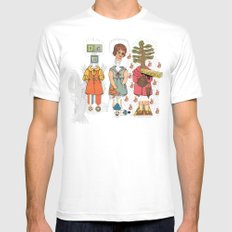 Silly Girls MEDIUM Mens Fitted Tee White