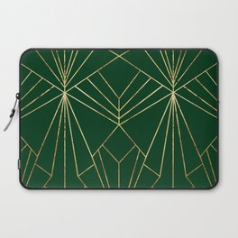 Art Deco in Gold & Green - Large Scale Laptop Sleeve
