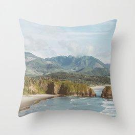 Oregon Coast - Cannon Beach Nature, Landscape Photography Throw Pillow