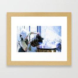 Chores of a chambermaid Framed Art Print