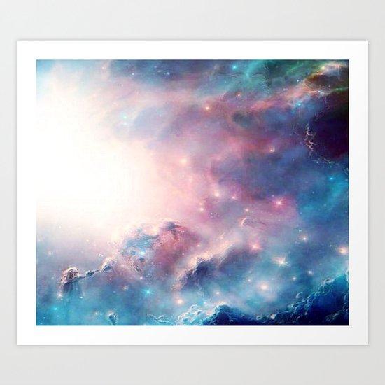 Galactic storm Art Print