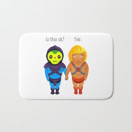 Valentines day in Eternia - He-man and Skeletor Bath Mat
