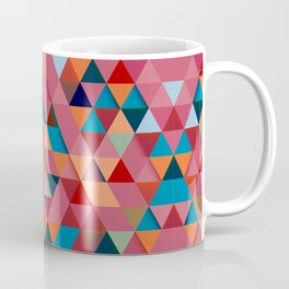 Colorfull abstract darker triangle pattern Coffee Mug