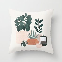 Coffee & Plants x The Sill Throw Pillow