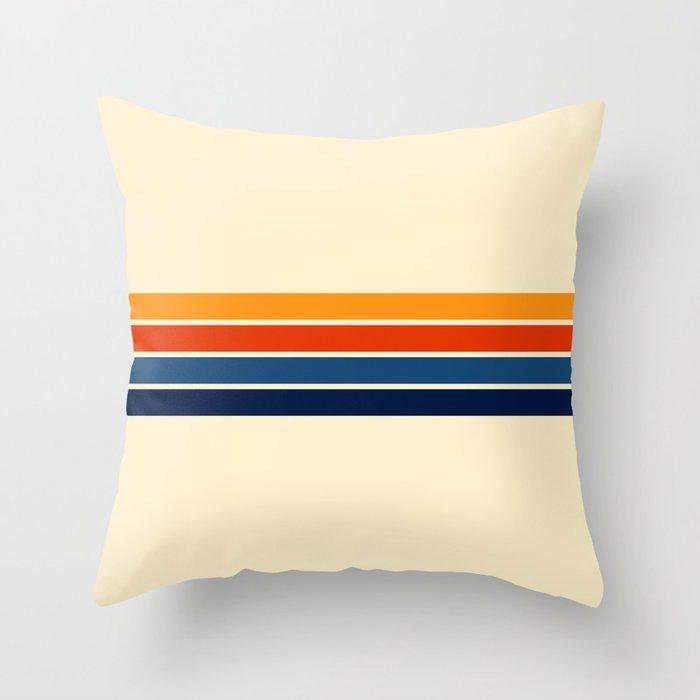 Classic Retro Stripes Throw Pillow