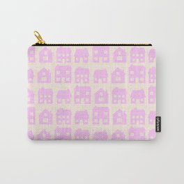 Little Scandi Houses in Pink Carry-All Pouch