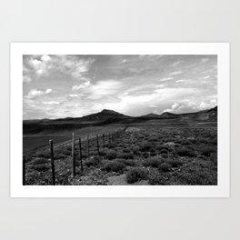 looking northwest. Art Print