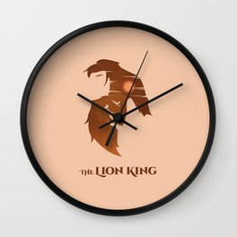 The Lion King Minimalistic Wall Clock