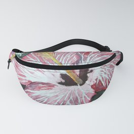 Hibiscus pink flower still life Fanny Pack