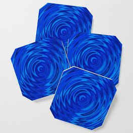 Water Moon Cobalt Swirl Coaster