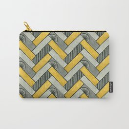 Deco Parquet Carry-All Pouch